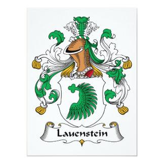 Escudo de la familia de Lauenstein Invitación 16,5 X 22,2 Cm