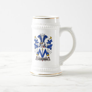 Escudo de la familia de Lauersen Tazas De Café