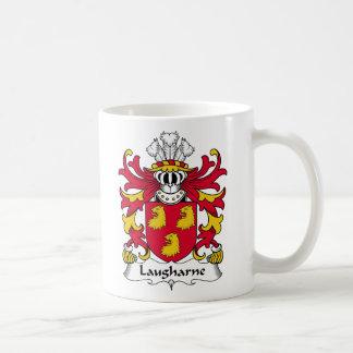 Escudo de la familia de Laugharne Taza Básica Blanca