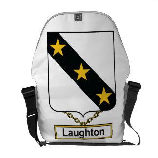 Escudo de la familia de Laughton Bolsas De Mensajería