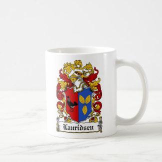 Escudo de la familia de Lauridsen Taza