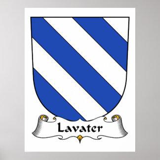 Escudo de la familia de Lavater Posters