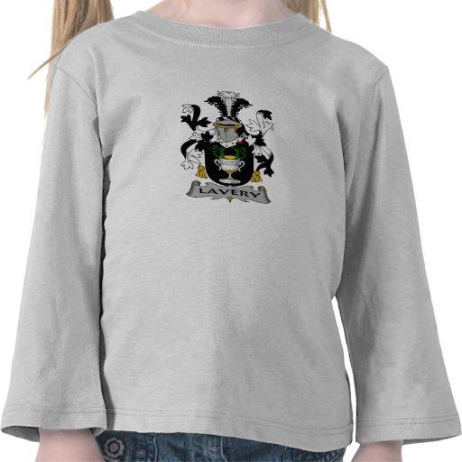 Escudo de la familia de Lavery Camiseta