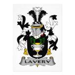 Escudo de la familia de Lavery Invitación
