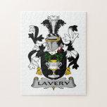 Escudo de la familia de Lavery Rompecabezas Con Fotos