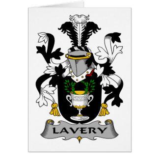 Escudo de la familia de Lavery Tarjeta De Felicitación