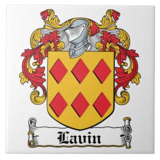 Escudo de la familia de Lavin Azulejos Ceramicos