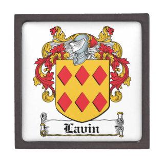 Escudo de la familia de Lavin Cajas De Recuerdo De Calidad