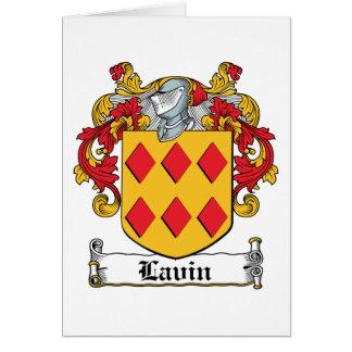 Escudo de la familia de Lavin Felicitacion