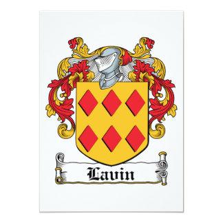 Escudo de la familia de Lavin Invitación 12,7 X 17,8 Cm