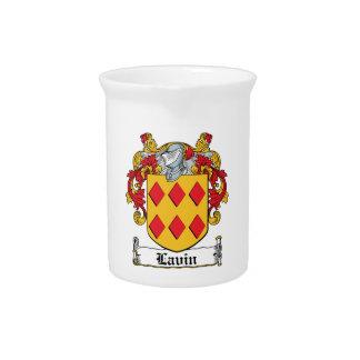 Escudo de la familia de Lavin Jarra Para Bebida