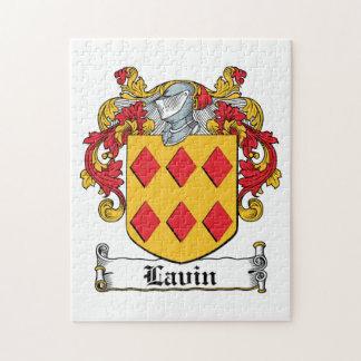 Escudo de la familia de Lavin Rompecabezas