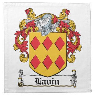 Escudo de la familia de Lavin Servilletas De Papel