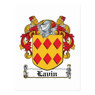 Escudo de la familia de Lavin Tarjeta Postal