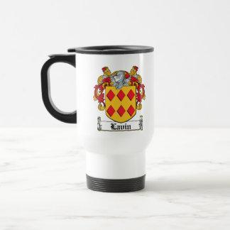Escudo de la familia de Lavin Tazas De Café