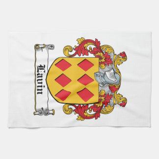 Escudo de la familia de Lavin Toallas De Cocina