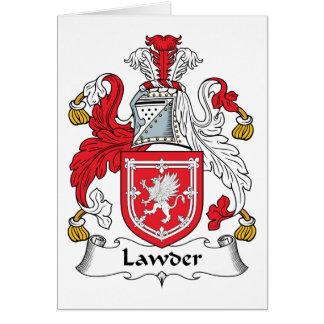 Escudo de la familia de Lawder Tarjeta De Felicitación