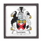 Escudo de la familia de Lawson Caja De Regalo De Calidad