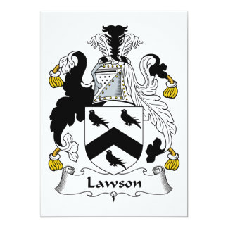 """Escudo de la familia de Lawson Invitación 5"""" X 7"""""""