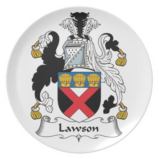 Escudo de la familia de Lawson Platos Para Fiestas
