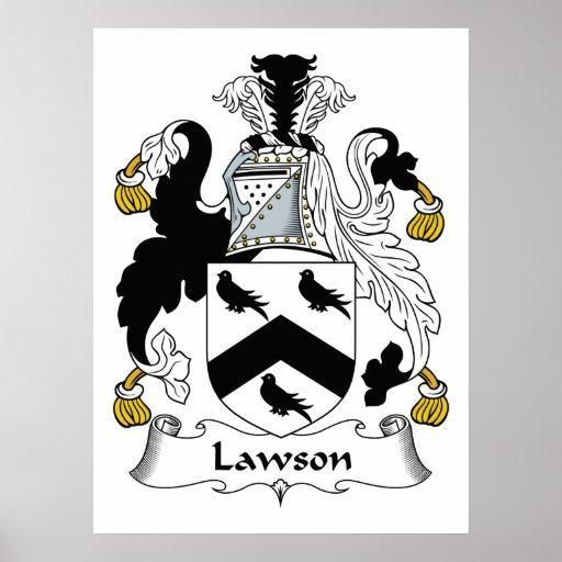 Escudo de la familia de Lawson Poster