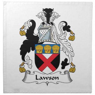 Escudo de la familia de Lawson Servilletas Imprimidas