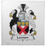 Escudo de la familia de Lawson Servilleta De Papel