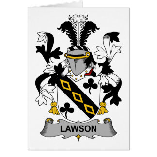 Escudo de la familia de Lawson Tarjeta De Felicitación