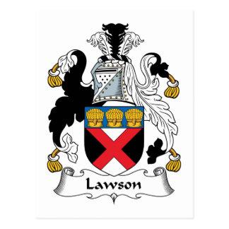 Escudo de la familia de Lawson Tarjeta Postal