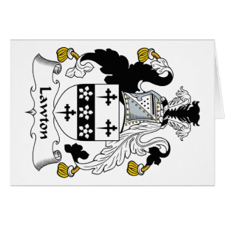 Escudo de la familia de Lawton Tarjeta De Felicitación