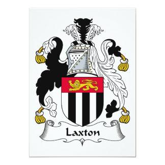"""Escudo de la familia de Laxton Invitación 5"""" X 7"""""""