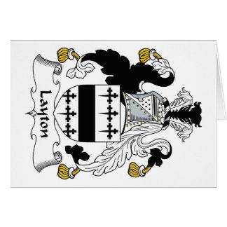 Escudo de la familia de Layton Tarjeta De Felicitación