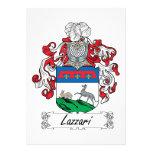 Escudo de la familia de Lazzari Invitación