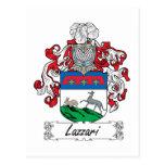 Escudo de la familia de Lazzari Tarjeta Postal