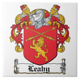 Escudo de la familia de Leahy Azulejo Cuadrado Grande