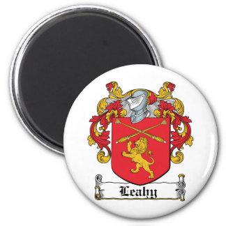Escudo de la familia de Leahy Imán Redondo 5 Cm