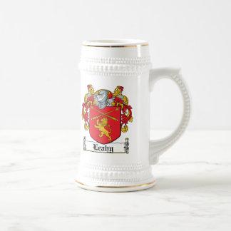 Escudo de la familia de Leahy Jarra De Cerveza