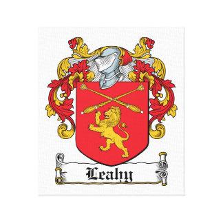Escudo de la familia de Leahy Lienzo Envuelto Para Galerías