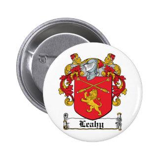 Escudo de la familia de Leahy Pin Redondo 5 Cm