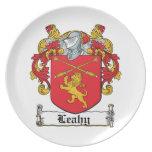 Escudo de la familia de Leahy Platos De Comidas