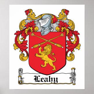 Escudo de la familia de Leahy Póster