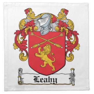 Escudo de la familia de Leahy Servilletas Imprimidas