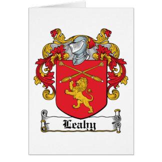 Escudo de la familia de Leahy Tarjeta De Felicitación