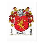 Escudo de la familia de Leahy Tarjetas Postales