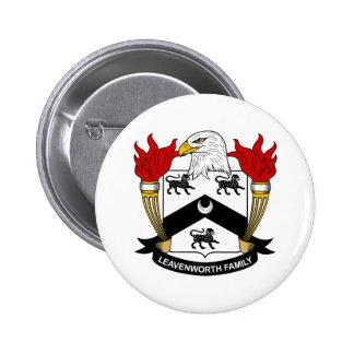 Escudo de la familia de Leavenworth Pin