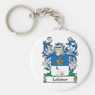 Escudo de la familia de Lebedev Llaveros Personalizados