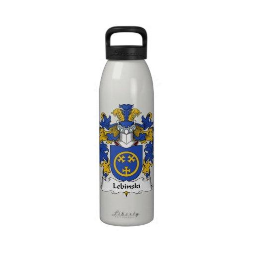 Escudo de la familia de Lebinski Botella De Beber