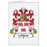 Escudo de la familia de Leblond Tarjeton