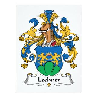Escudo de la familia de Lechner Invitación 16,5 X 22,2 Cm
