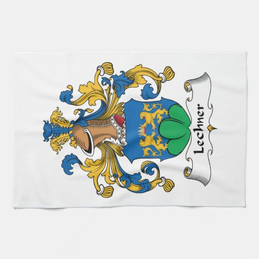 Escudo de la familia de Lechner Toalla De Cocina